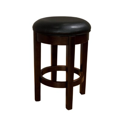 Philipstown 24.5 Swivel Bar Stool (Set of 2) Upholstery: Black
