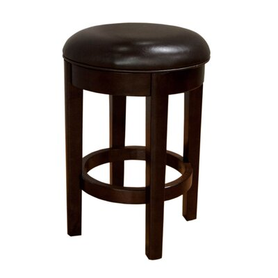 Philipstown 24.5 Swivel Bar Stool (Set of 2) Upholstery: Brown Bonded