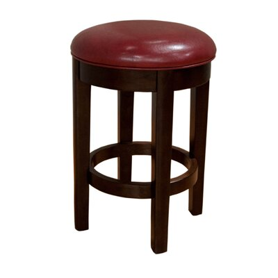 Philipstown 24.5 Swivel Bar Stool (Set of 2) Upholstery: Red