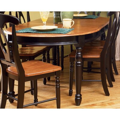 Low Price A-America British Isles Napoleon Side Chair (Set of 2) Finish: Dark Brown and Oak