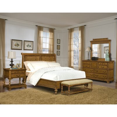 Furnitopic Webstore Kingston Sleigh Bedroom Set In