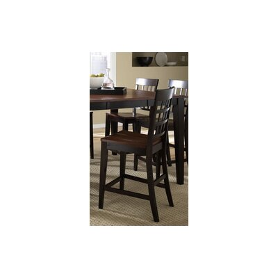 A-America Bristol Point Gridback Barstool in Oak Espresso (Set of 2) Best Price