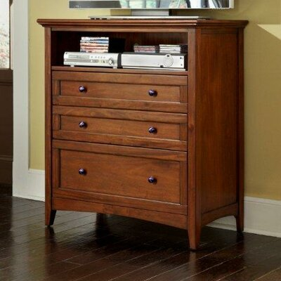 Barstow 3 Drawer Media Chest