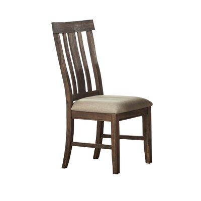 Stotts Slatback Upholstered Side Chair