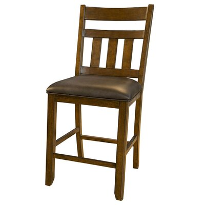 Osborne Ladderback Upholstered Bar Stool