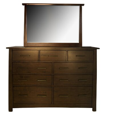 Treville 9 Drawer Dresser with Mirror