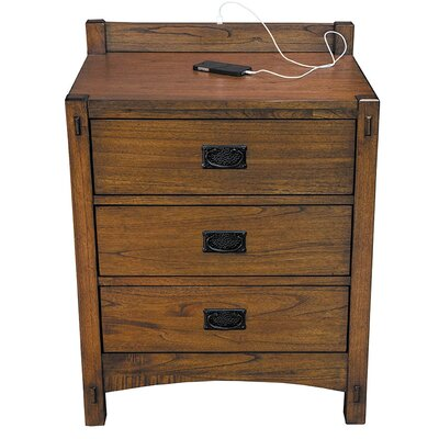 Castro 3 Drawer Nightstand