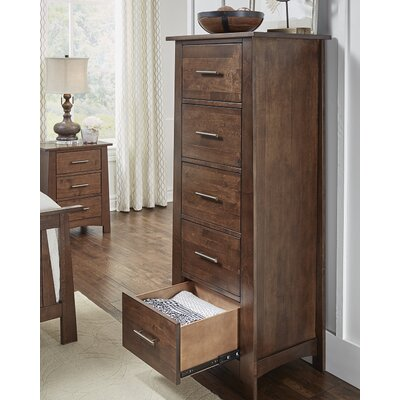 Treville Narrow 5 Drawer Lingerie Chest