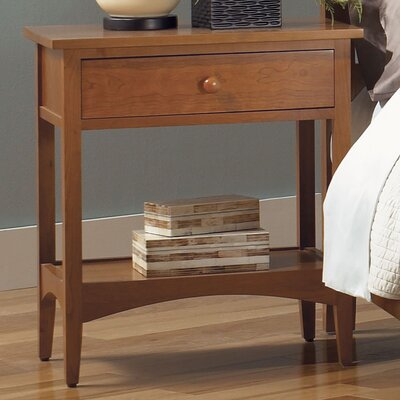 Cherry Garden 1 Drawer Nightstand