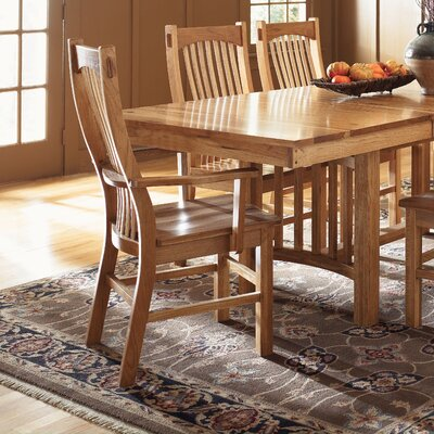 A America Brookhurst Trestle 7 Piece Dining Table Set In