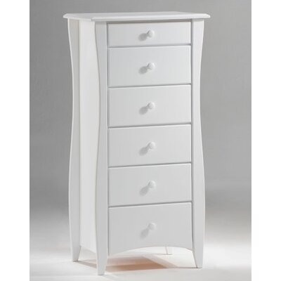 Clove Lingerie 6 Drawer Chest Finish: White