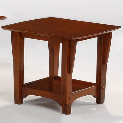 Premium Series End Table Color: Black Walnut