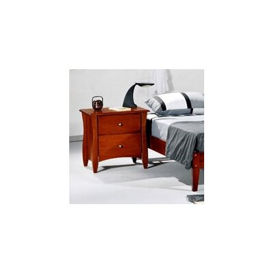 Spices Bedroom 2 Drawer Nightstand Finish: Cherry