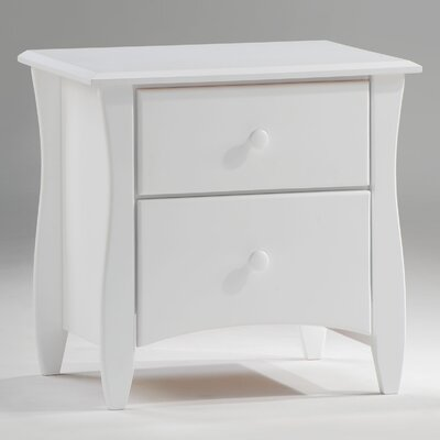 Spices Bedroom 2 Drawer Nightstand Color: White