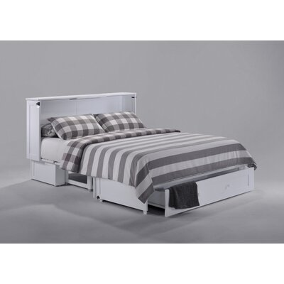 Clover Queen Storage Murphy Bed with Mattress Color: White