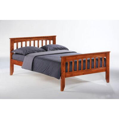 Rent to own Zest Sarsaparilla Slat Bed...