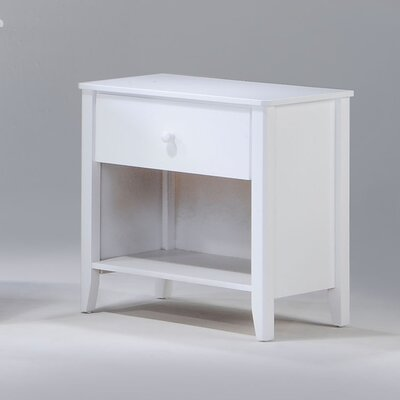 Zest 1 Drawer Nightstand Color: White