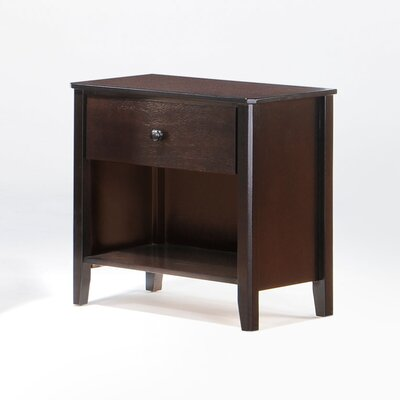 Zest 1 Drawer Nightstand Color: Chocolate