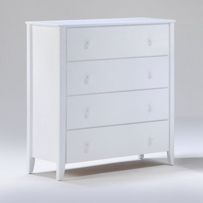 Zest 4 Drawer Chest Color: White