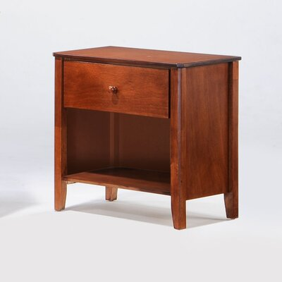 Zest 1 Drawer Nightstand Finish: Cherry