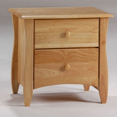 Spices Bedroom 2 Drawer Nightstand Finish: Natural