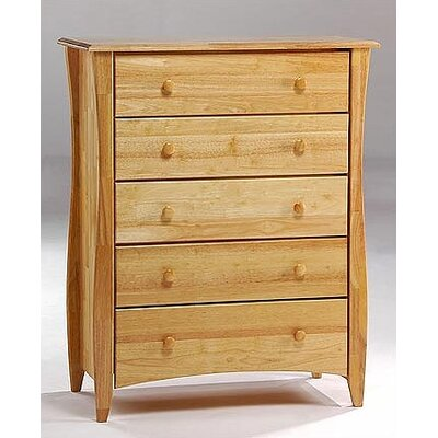 Spices 5 Drawer Chest Finish: Natural