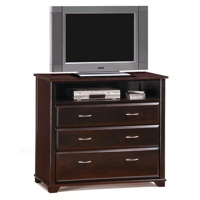 Spices Juniper 3 Drawer Chest Color: Dark Chocolate