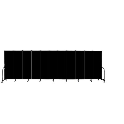 ScreenFlex Commercial Edition Eleven Panel Portable Room Divider - Color/Material: Green Fabric, Height: 7' 4''
