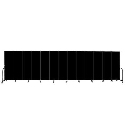 ScreenFlex Commercial Edition Thirteen Panel Portable Room Divider - Color/Material: Sandalwood Vinyl, Height: 6'