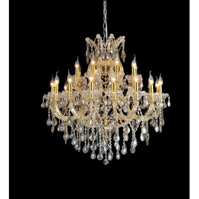 Orr 34-Light Crystal Chandelier Finish: Chrome