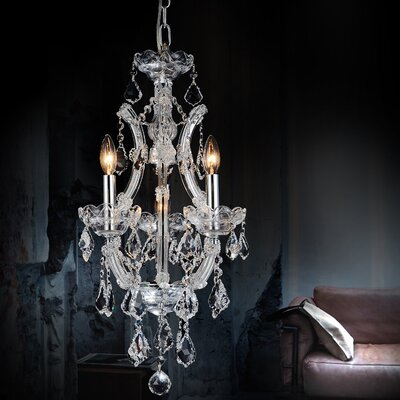 Orr Crystal 4-Light Candle-Style Chandelier Color: Chrome