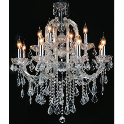 Davila Crystal 12-Light Candle-Style Chandelier