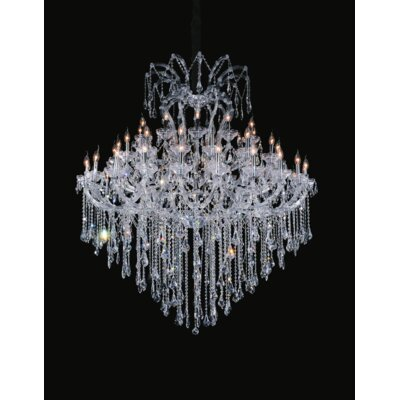 Orr Crystal 55-Light Candle-Style chandelier