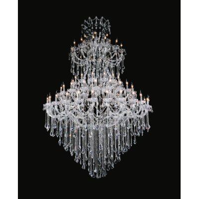 Orr Crystal  84-Light Candle-Style Chandelier