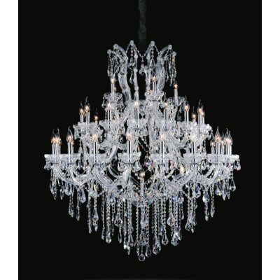 Orr Crystal 41-Light Candle-Style Chandelier