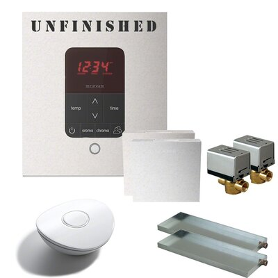 Butler Square Steam Thermostat, Timer, and Steamhead Finish: White