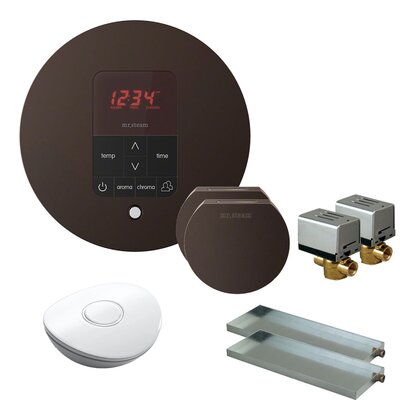 Butler Round Steam Thermostat, Timer, and Steamhead Finish: Oil Rubbed Bronze