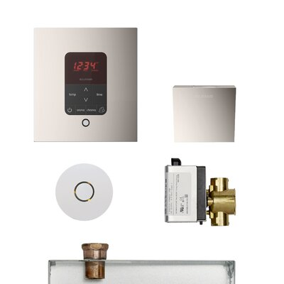 Residential Butler Accessories with Square Control Finish: Polished Nickel