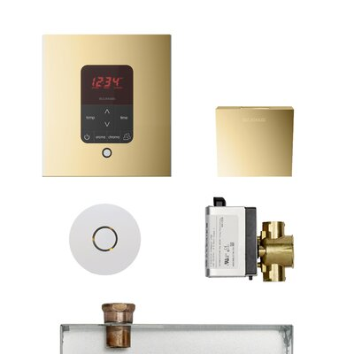 Residential Butler Accessories with Square Control Finish: Polished Brass