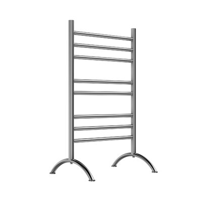 Free Standing Floor Electirc Towel Warmer Finish: Brushed Stainless Steel