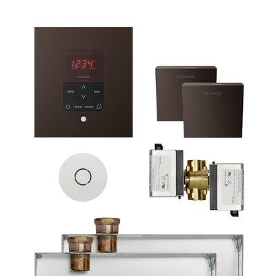 Butler Square Steam Thermostat, Timer, and Steamhead Finish: Oil Rubbed Bronze