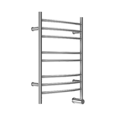 Wall Mount Electric Stainless Steel Towel Warmer Finish: Brushed Stainless Steel, Wiring: No Factory Installed Power Cord, Size: 33 H x 21 W x 4.25 D