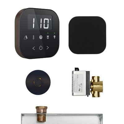 AirButler Steam Shower Package Finish: Black/Brushed Bronze