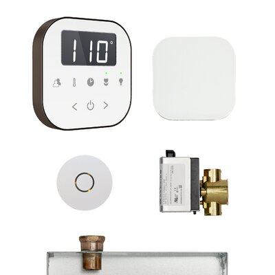 AirButler Steam Shower Package Finish: White/Oil Rubbed Bronze