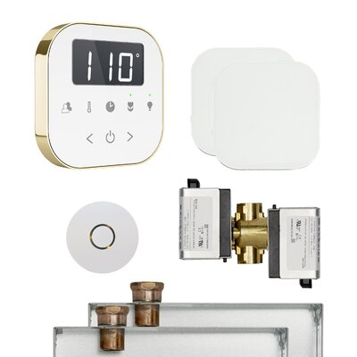 AirButler Steam Shower Package Finish: White/Polished Brass