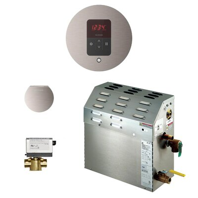 9kW Bath Steam Generator Package Finish: Brushed Nickel