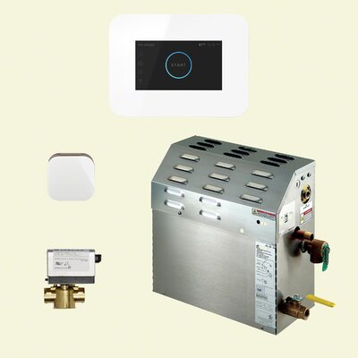 7.5 kW Bath Steam Generator Package Finish: White