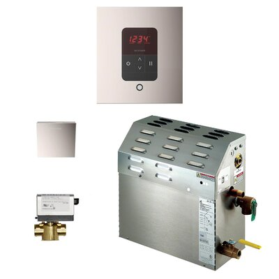 9kW Bath Steam Generator Package Finish: Polished Nickel
