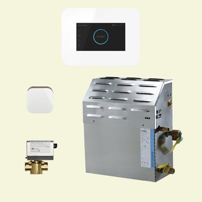 15 kW Bath Steam Generator Package Finish: White
