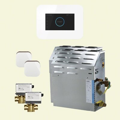 20 kW Bath Steam Generator Package Finish: White